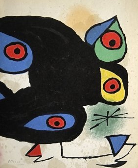 JOAN MIRO, Hand Signed Lithographie, 1974