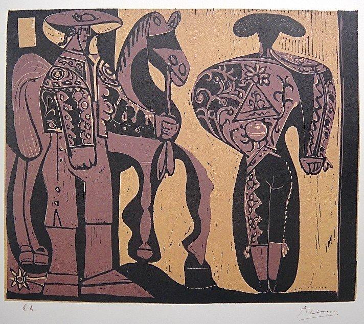 91: PABLO PICASSO, Picador et Torero, Original Lithogra