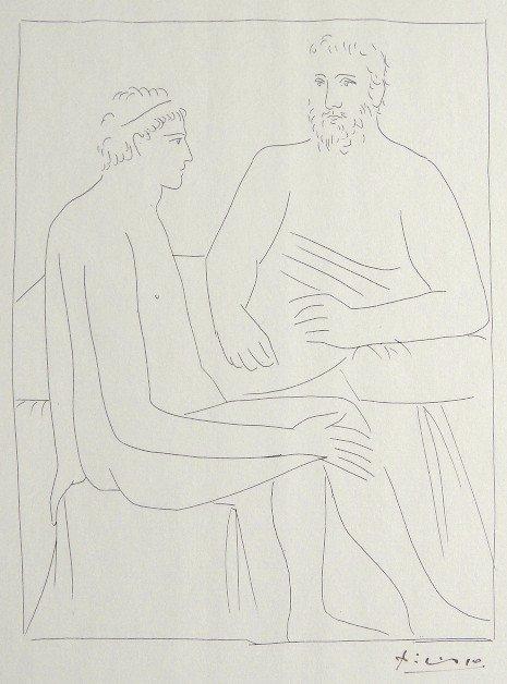 1: PABLO PICASSO, Signed Original Lithograph Les Metamo