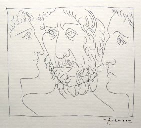 PABLO PICASSO, Signed Original Lithograph Les Metamo