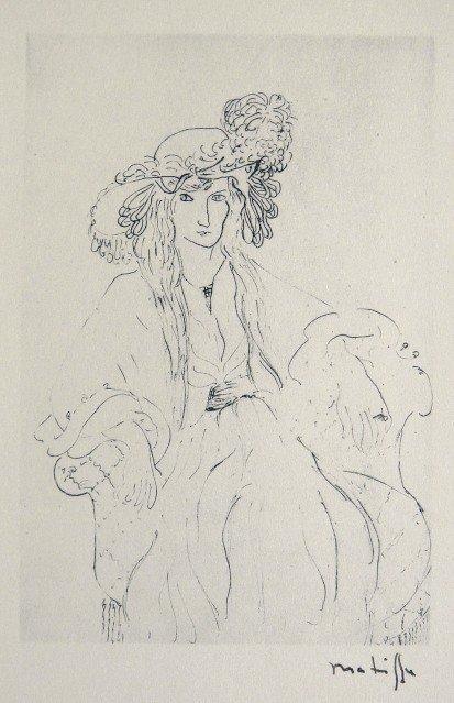 4: HENRI MATISSE, Hand Original Lithograph, Dessin, 192