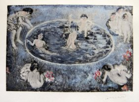 PIERRE BONNARD, Hand Colored And Hand Signed Lithogr
