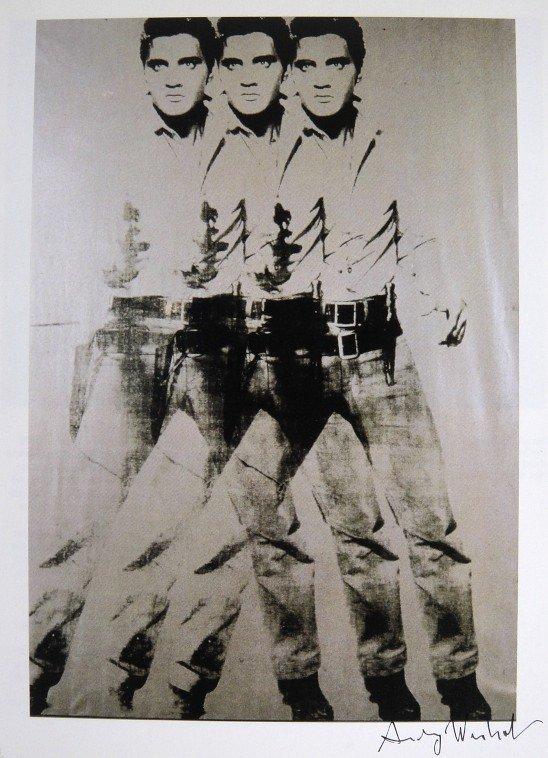 7: ANDY WARHOL, Signed Print, Triple Elvis