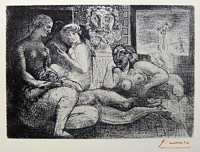 8: PABLO PICASSO, Suite Vollard, Quatre Femmes nues et
