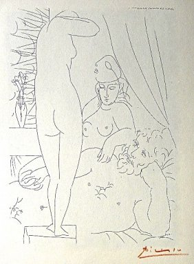 PABLO PICASSO, Suite Vollard, Le Repos Du Sculpteur