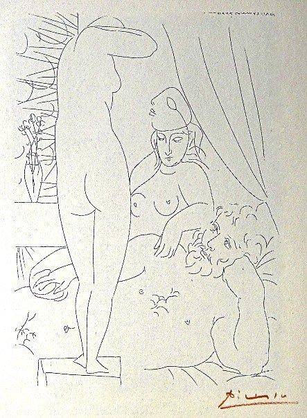 9: PABLO PICASSO, Suite Vollard, Le Repos du Sculpteur