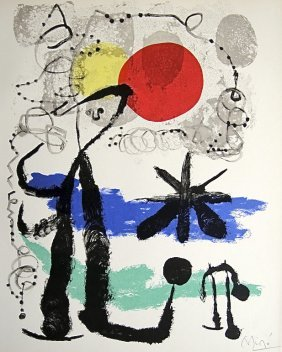 10: JOAN MIRO, Signed Lithograph, 1954