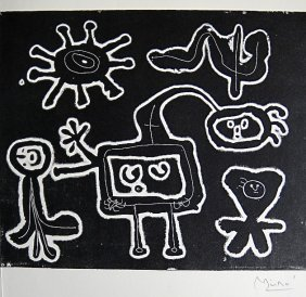 16: JOAN MIRO, Signed Lithograph, 1954