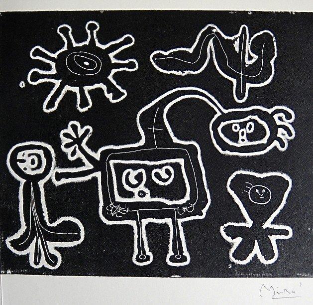 16: JOAN MIRO, Signed Lithograph, 1954
