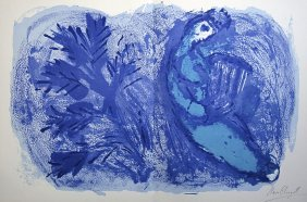 18: MARC CHAGALL, Hand signed Lithograph, 1957