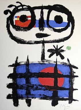 21: JOAN MIRO, Signed Lithograph, 1954