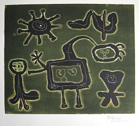 24: JOAN MIRO, Signed Lithograph, 1954