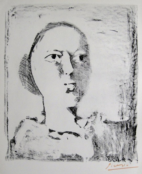 11: PABLO PICASSO, Signed Special Print, Tête de Femme,