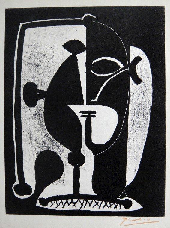 12: PABLO PICASSO, Signed Special Print, Tête de Femme,
