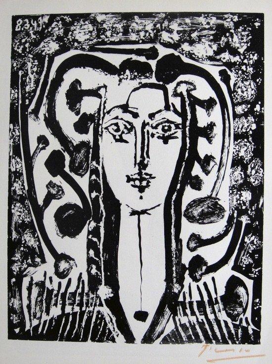 13: PABLO PICASSO, Signed Special Print, Tête de Femme,