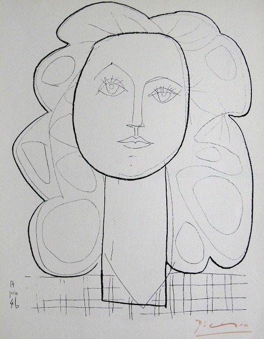 14: PABLO PICASSO, Signed Special Print, Tête de Femme,