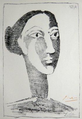 PABLO PICASSO, Signed Special Print, T�te De Femme,