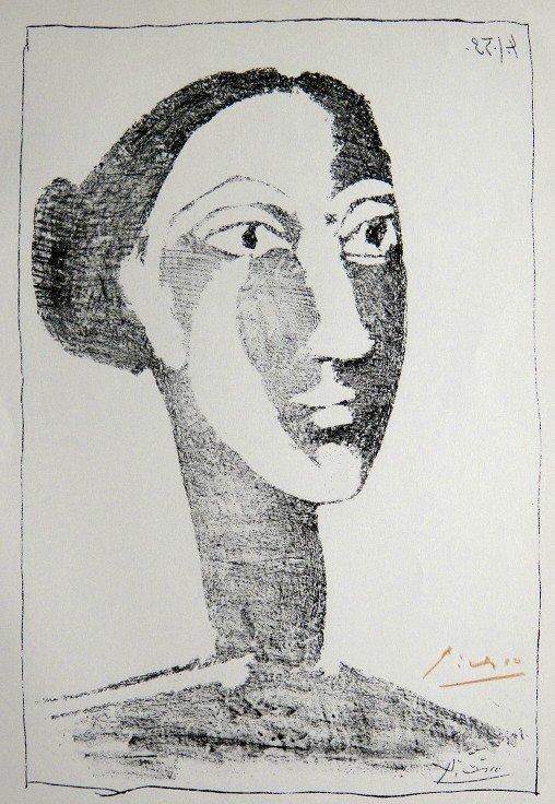 15: PABLO PICASSO, Signed Special Print, Tête de Femme,