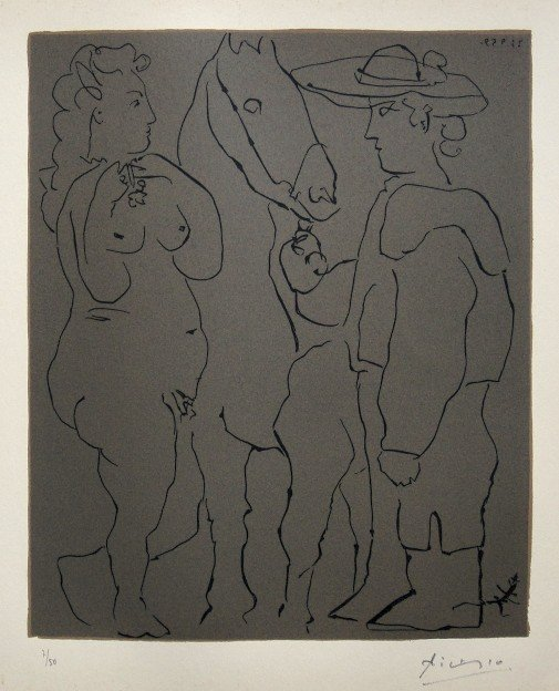 4: PABLO PICASSO, Hand signed Linocut, 1962