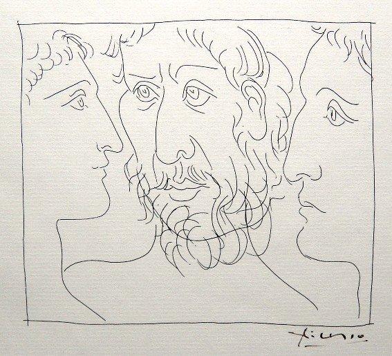 7: PABLO PICASSO, Signed Original Lithograph Les Metamo