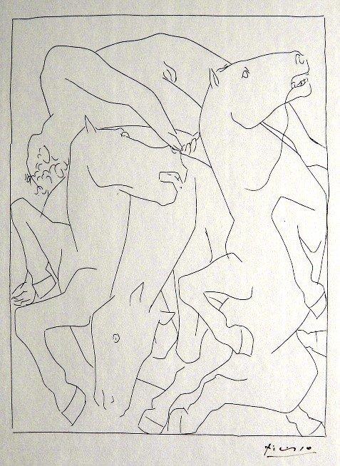8: PABLO PICASSO, Signed Original Lithograph Les Metamo
