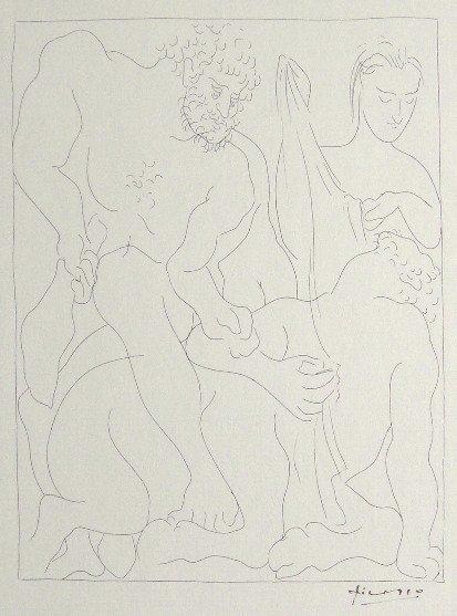 50: PABLO PICASSO, Signed Original Lithograph Les Metam