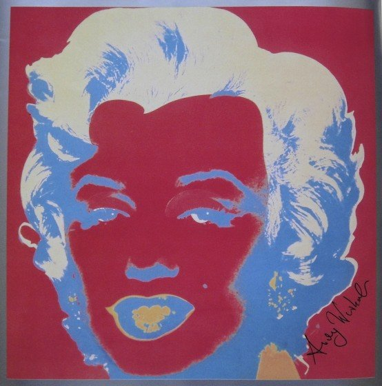 13: ANDY WARHOL, Signed Print, Marilyn