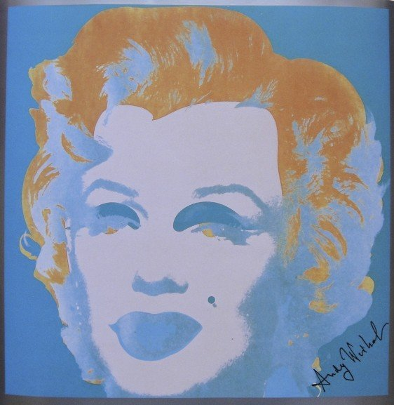 14: ANDY WARHOL, Signed Print, Marilyn