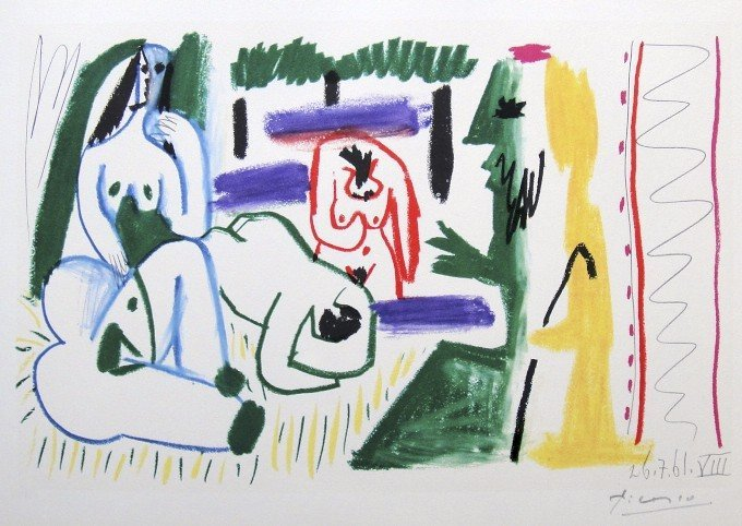 58: PABLO PICASSO, signed Lithograph, 1962