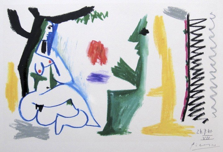 70: PABLO PICASSO, signed Lithograph, 1962