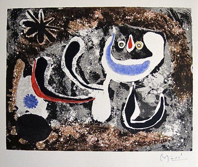 5: JOAN MIRO, Signed Lithograph, 1954