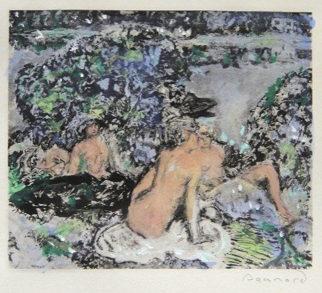 52: PIERRE BONNARD, hand colored and hand signed Lithog