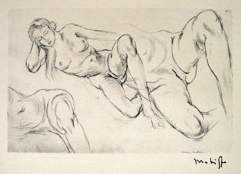 53: HENRI MATISSE, Hand Original Lithograph, Dessin, 19