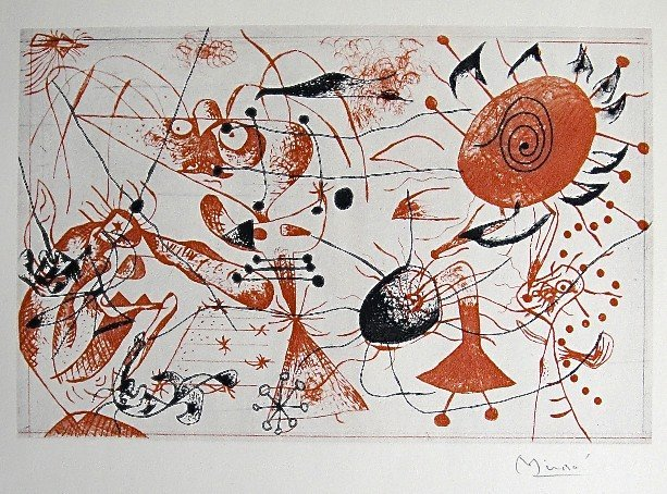 60: JOAN MIRO, Signed Lithograph, 1954