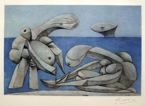 22: PABLO PICASSO, Special hand signed Heliolithograph