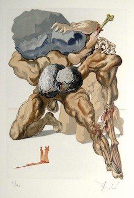 5: Salvador DALI, Signed Woodcut - The Devine Comedy