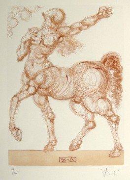 17: Salvador DALI, Signed Woodcut - The Devine Comedy