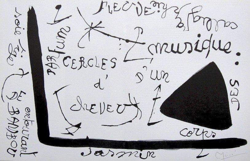 20: JOAN MIRO, Original signed Print, 1976