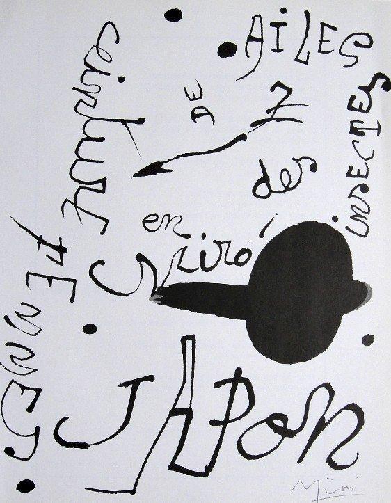 21: JOAN MIRO, Original signed Print, 1976