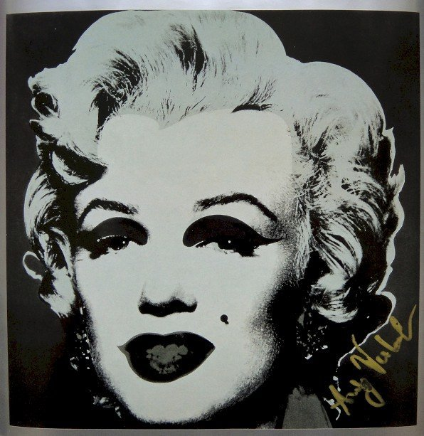 ANDY WARHOL, Signed Print, Marilyn