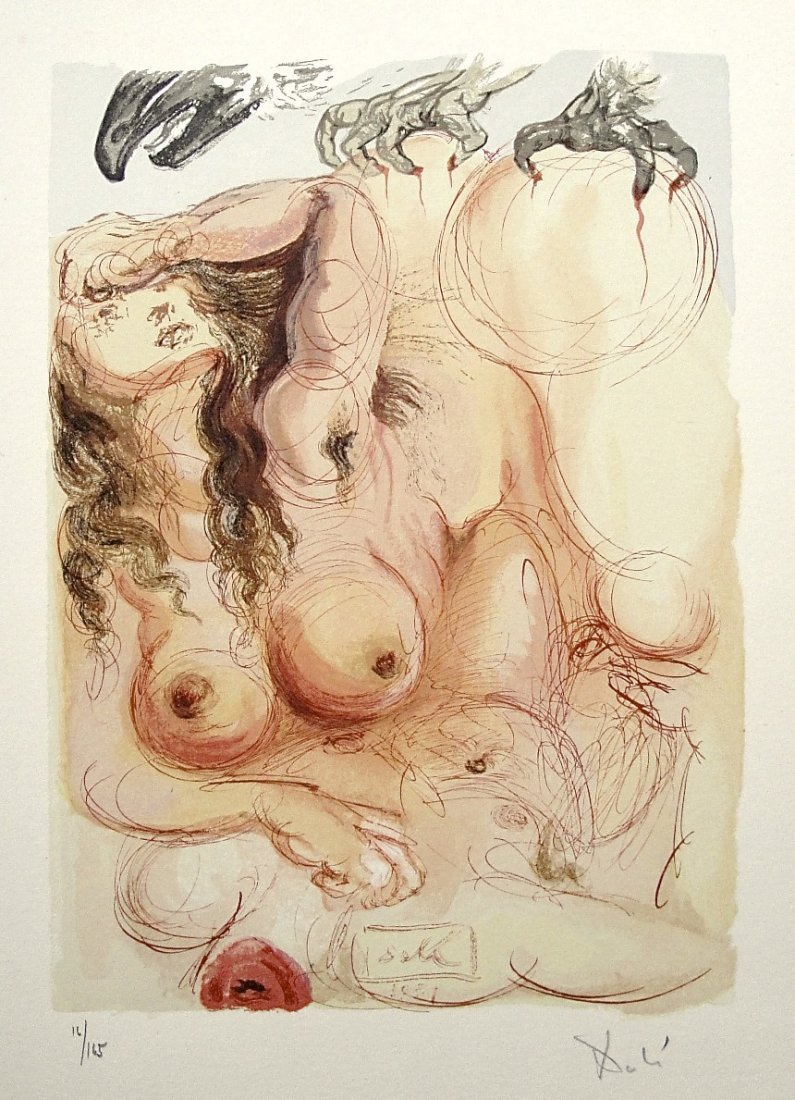 Salvador DALI, Signed Woodcut - The Devine Comedy