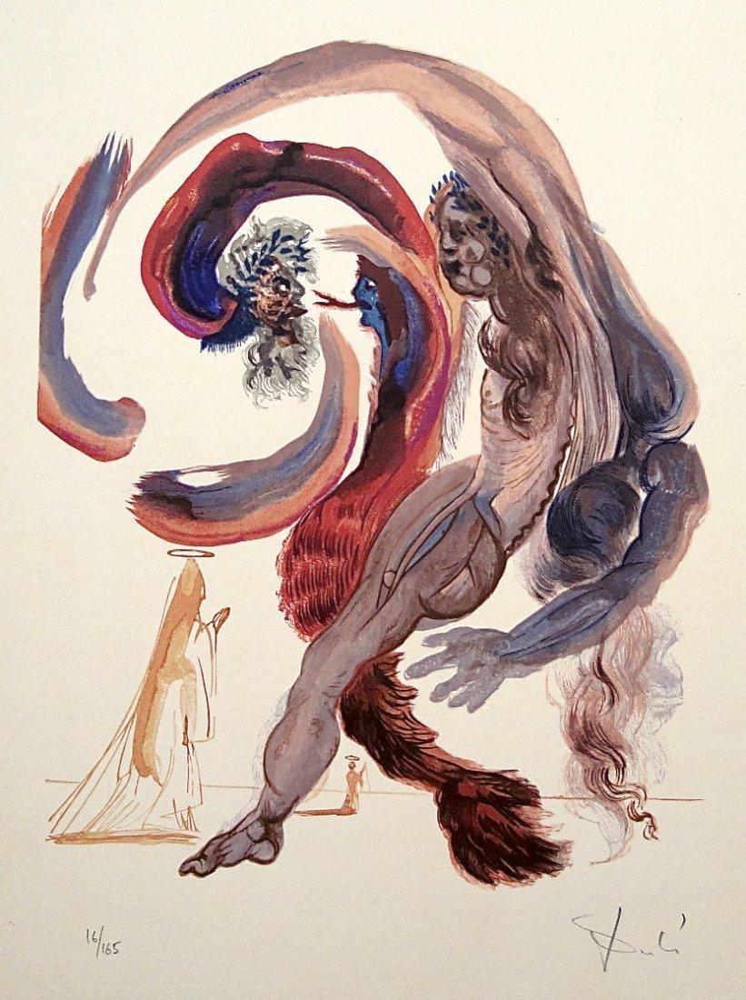 Salvador DALI, Signed Woodcut - The Devine Comedy