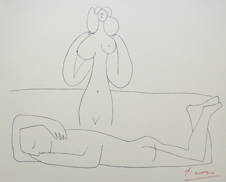 """Pablo Picasso, Lithograph """"Picasso in Antibes"""", 1946"""
