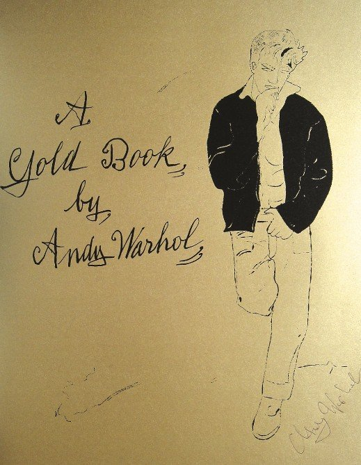 ANDY WARHOL, Signed Lithograph, Gold Book