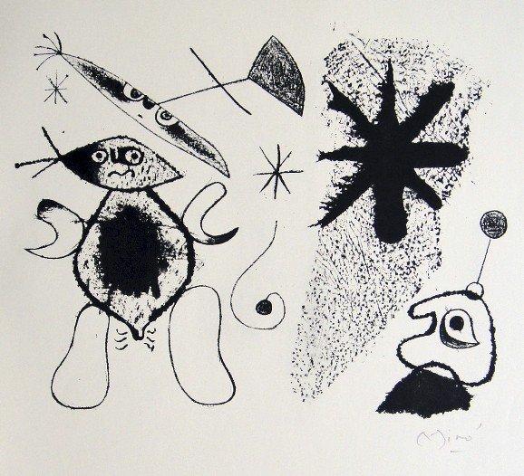 JOAN MIRO, Signed Lithograph, 1954
