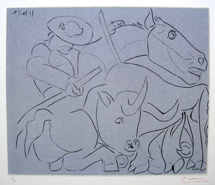 PABLO PICASSO, Hand signed Lithograph, 1962