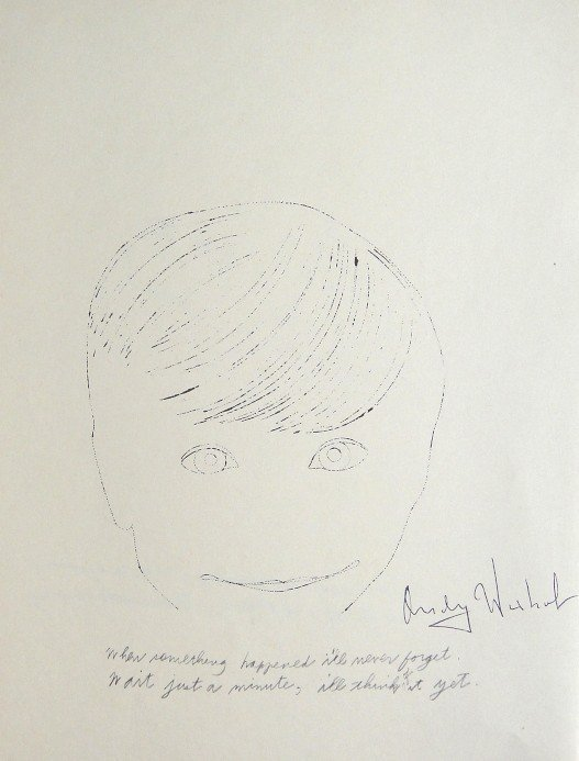 ANDY WARHOL, Signed Heliolithograph, Gold Book
