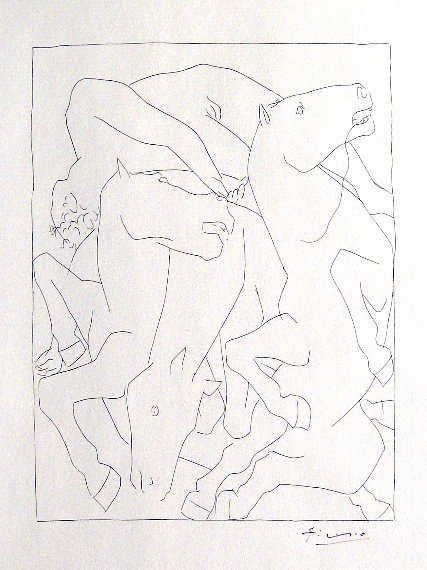 PABLO PICASSO, Signed Original Lithograph Les Metamorph