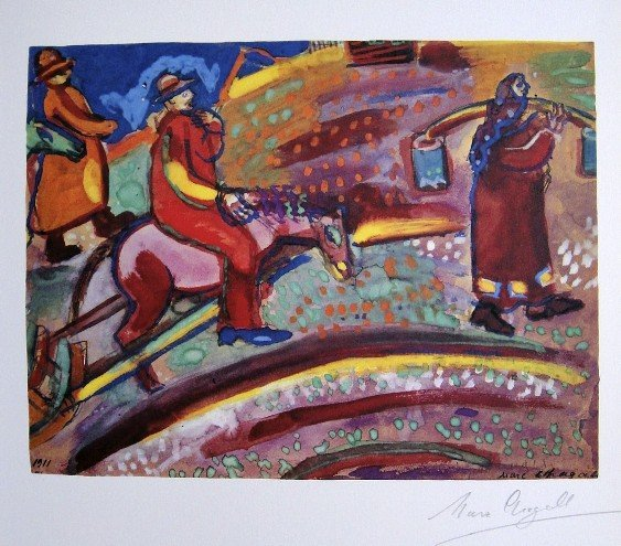 MARC CHAGALL, Hand Signed Lithograph, 1975