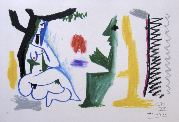 PABLO PICASSO, signed Lithograph, 1962